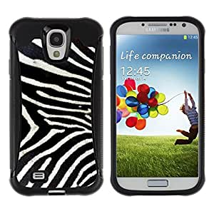 "Pulsar iFace Series Tpu silicona Carcasa Funda Case para Samsung Galaxy S4 IV I9500 , Modelo de la cebra Whote Grises Naturaleza"""
