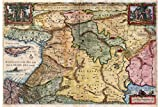 Map Of The Holy Land with Biblical Illustrations; Antique Map, 1657