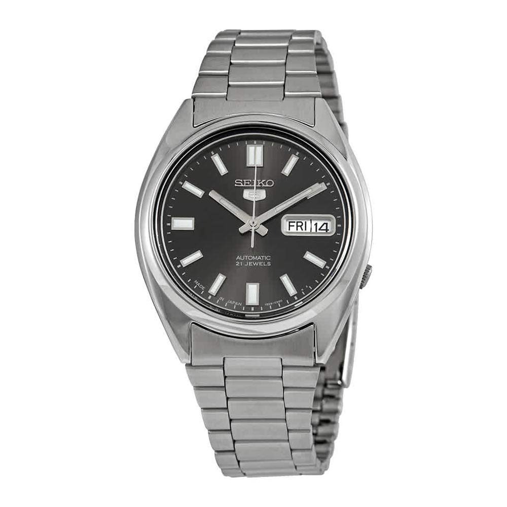 Seiko 5 Automatic Gents Stainless Steel Watch Black Dial Snxs79j1 Made In Japan By Seiko Watches