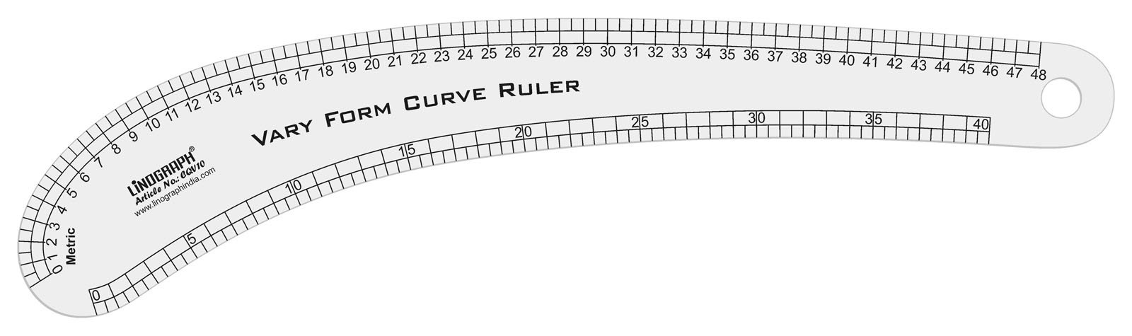 Linograph 48 Cm Marking Multipurpose Vary Form Curve Ruler Pattern Making Scale
