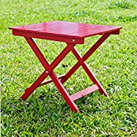 HRH Designs HRH-VST-AR Square side table, Red