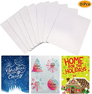 Blank Mouse Pads for Heat Press 8pcs Sublimation Mouse Pad Blanks Heat Press Printing Crafts Sublimation Blank Mouse Pads 2402003mm