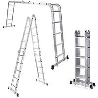 MAXCRAFT Escalera multifunción 6 en 1 de aluminio