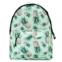 Uideazone Unisex Casual Print Backpack Canvas Bag School Student Bookbags Daypack Laptop