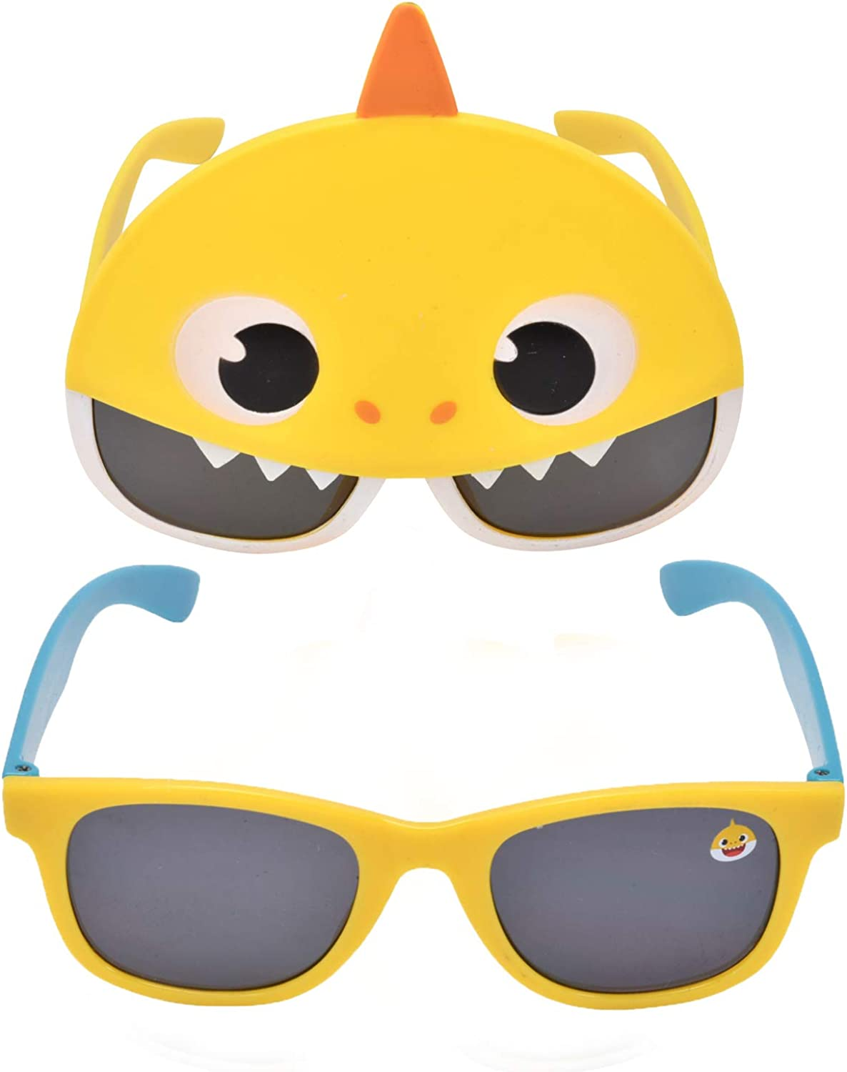 Baby Shark 2-Pack Kids Sunglasses with Carrying Case, Toddler Sunglasses