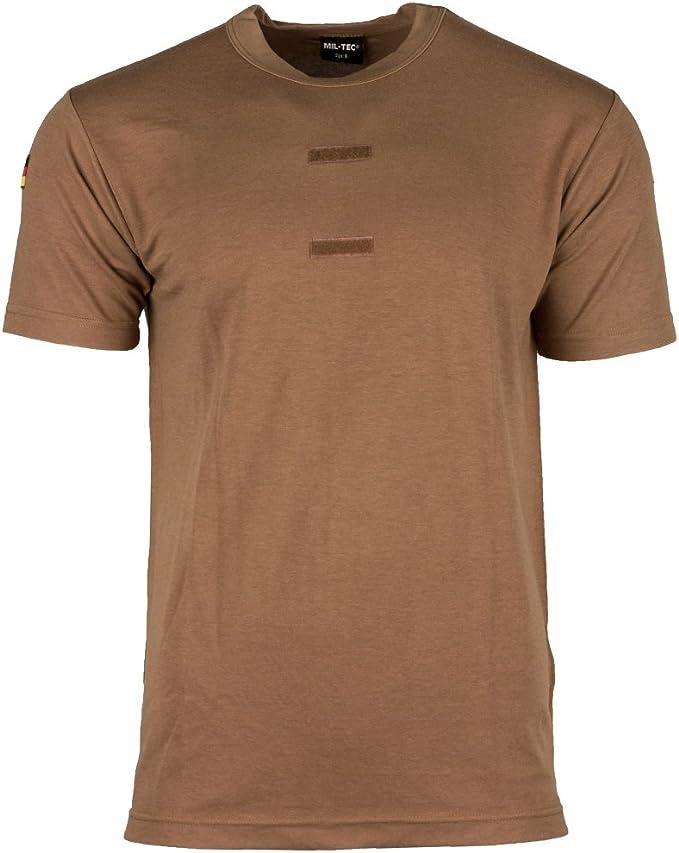 MFH Camisa Tropical Bundeswehr con Insignia y Velcro
