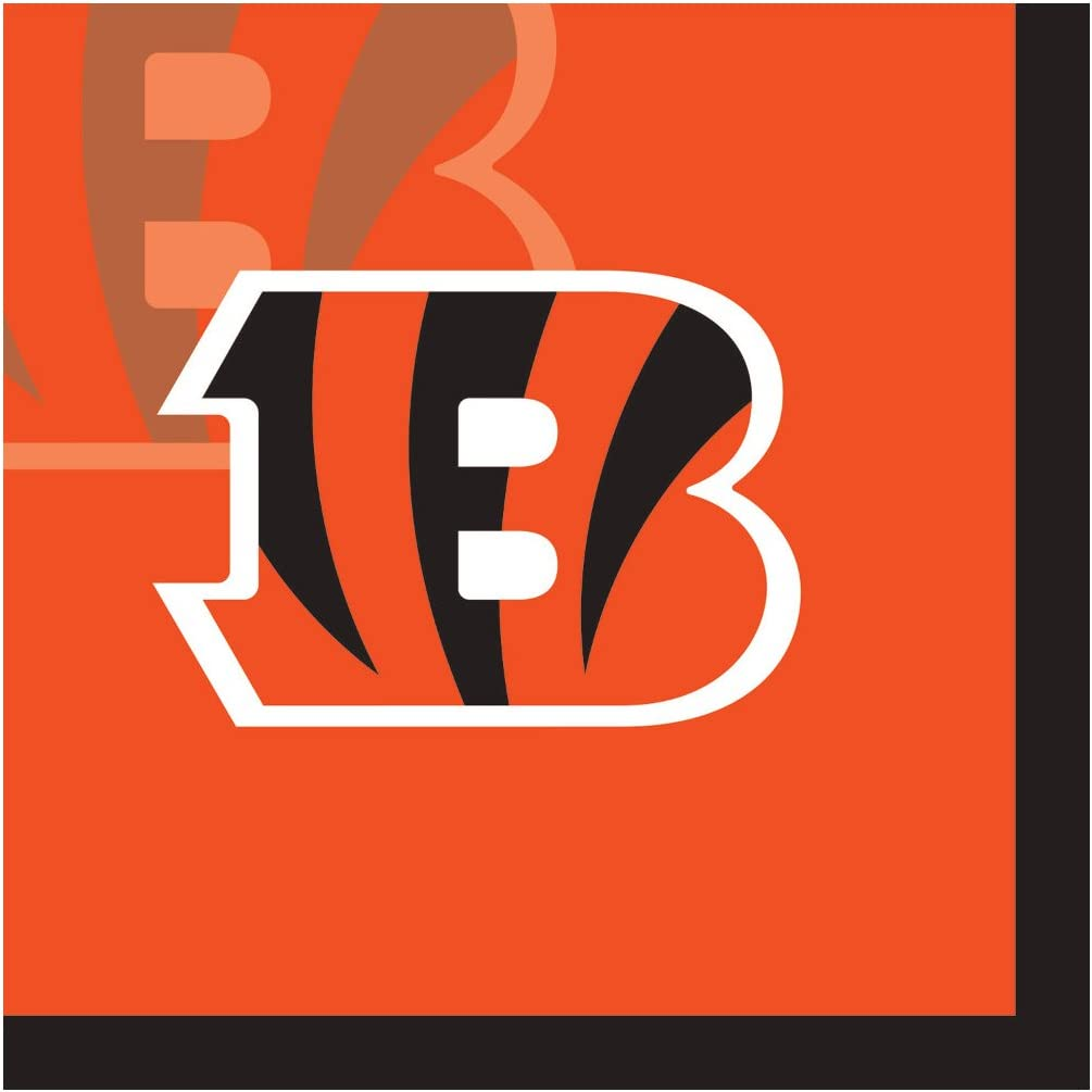Creative Converting Officially Licensed NFL Paper Beverage Napkins, 192-Count, Cincinnati Bengals