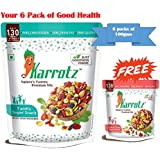 Karrotz – Healthy Nutrition Mix of Top Quality Berries, Dry Fruits, Mixed Nuts, Seeds & Grams for Breakfast, Topping or Snacks Trail Mix (6 X 100gms packs of Family SuperSnack + 1FREE pack of 30gms pack of Kids Snack)
