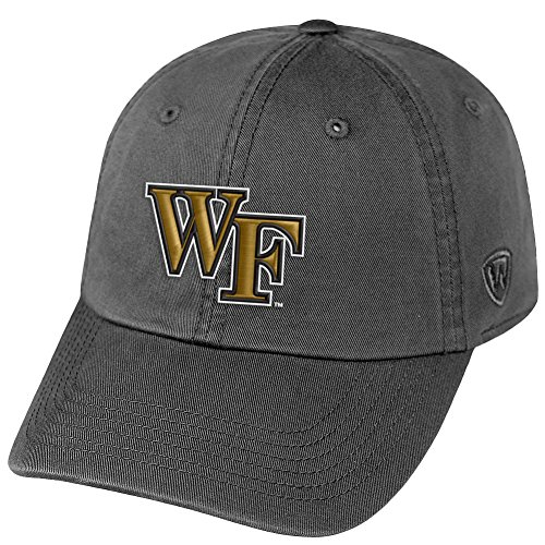 Top of the World NCAA Wake Forest Demon Deacons Men's Adjustable Relaxed Fit Charcoal Icon Hat, Charcoal
