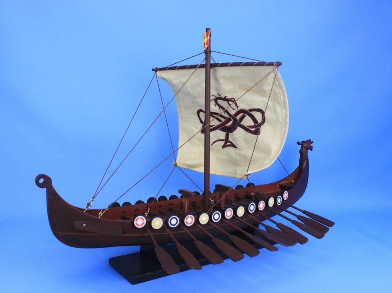 Hampton Nautical Wooden Viking Drakkar With Embroidered On Pinterest Ship Figurehead And Sailing Ships Serpent Model Boat Limited 24 Toys Games