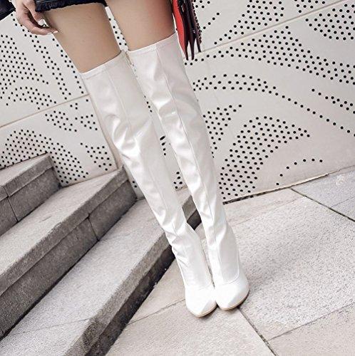 Boots Stivali Donna Affascinante Bianco MissSaSa RqaOwZxpP