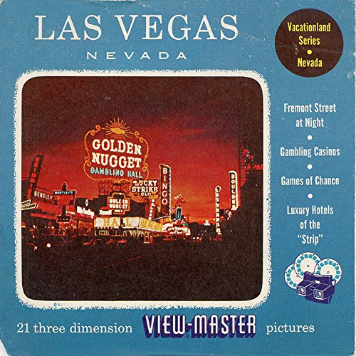 1950 Viewmaster Reel - ViewMaster - Fabulous Las Vegas Strip - ViewMaster Reels 3D - from the 1950s