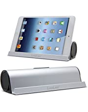 LuguLake Portable Bluetooth Speaker with Stand, 6W Dual-Driver for Calls for iPhone, iPod, iPad, Samsung, Echo, LG and Others (Silver) (Silver)