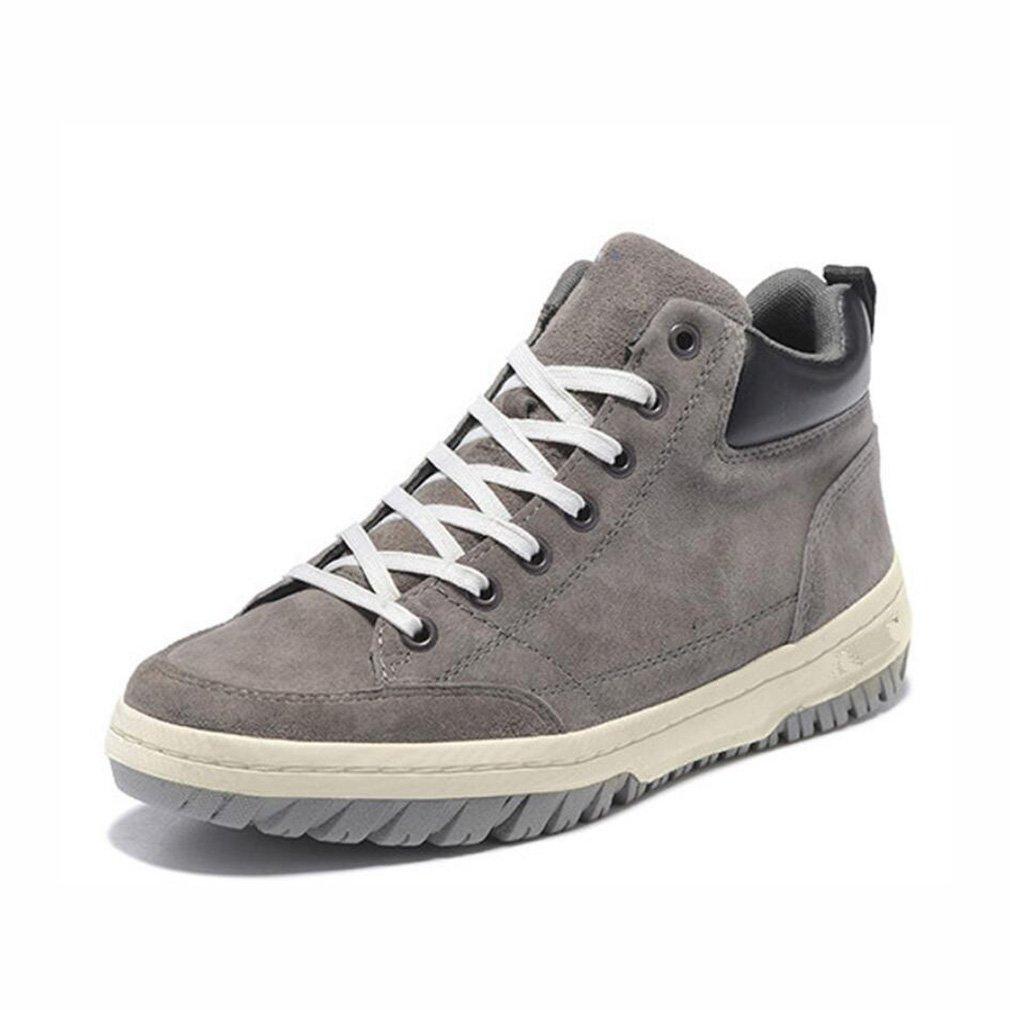 YaXuan Zapatos de Caminata de los Hombres, Otoño e Invierno Nuevas Botas al Aire Libre, Zapatos de Cuero de los Hombres Versátiles, Trekking, Uso Diario (Color : 1, Tamaño : 42) 42|1