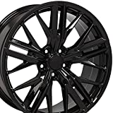 20 camaro wheels - 20x9.5 Wheel Fits Chevy Camaro - ZL1 Style Black Rim