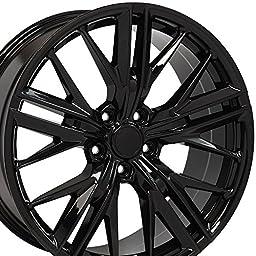 20x9.5 Wheel Fits Chevy Camaro - ZL1 Style Black Rim