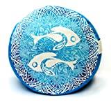 """Twin Fish Zafu Meditation Cushion / Yoga Pillow: Relax and get into your zen (12.5"""" wide x 7"""" tall)"""