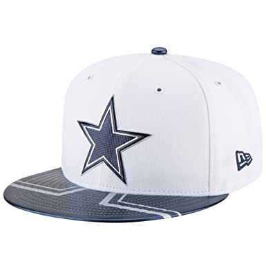 brand new f9c10 2aa28 real new era men caps fitted cap nfl offical on stage dallas cowboys 59fifty  white 7