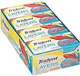 Trident Layers Sugar Free Gum (Swedish Fish, 14-Piece, 12-Pack)