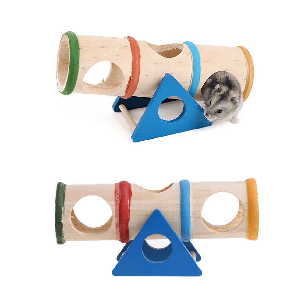 SimpleLife Giocattolo di Altalena in Legno di Criceto Giocattolo per Topi Colorati Gabbia per Topi Nascondi Nascondi Giocattoli per Animali Domestici