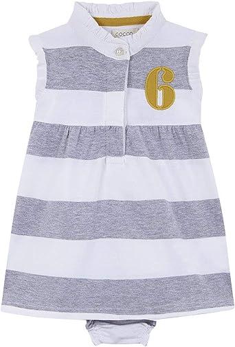 Gocco Vestido Polo Vestido, Bebé-Niñas, Gris (Gris Claro Melange ...