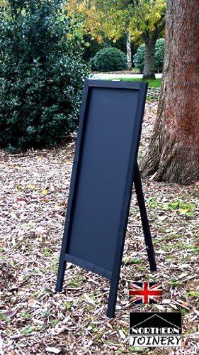 Tall Weatherproof Menu Chalkboard Pavement Chalk Board Sandwich Display Sign Black 1000mm x 400mm