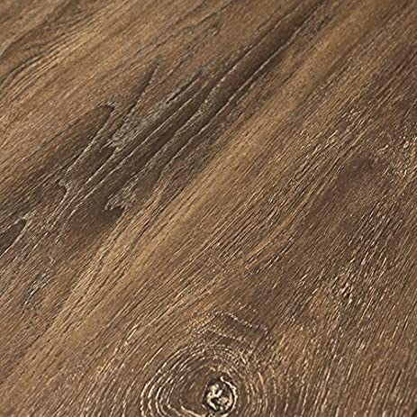 Timeless Designs Brown 12mm Laminate Flooring With 2mm Attached Foam
