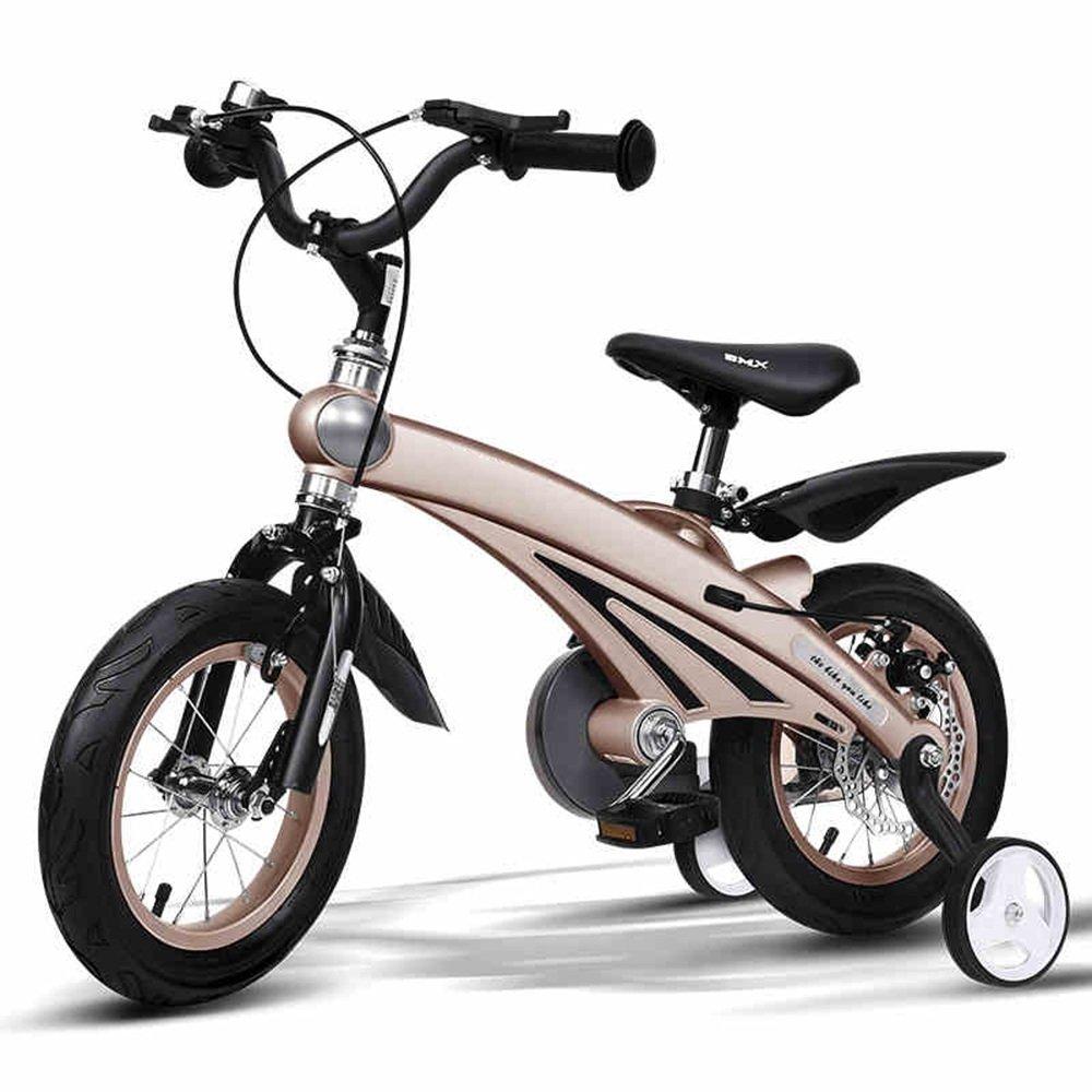 HAIZHEN マウンテンバイク 子供用自転車210歳のベビーカー12/14/16インチキッズバイク 新生児 B07C3XTTHP 14 inch|ゴールド ゴールド 14 inch