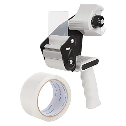 "Packing Tape Gun Dispenser For Sealing Boxes Side Loader Ergonomic Design 2/"""