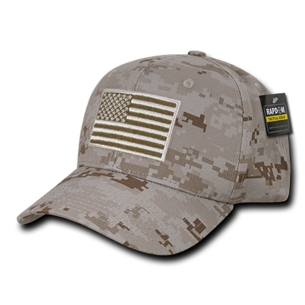 RAPDOM Tactical USA Embroidered Operator Cap Black T76-USA-BLK
