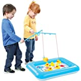 Catch A Duck Game With Inflatable Mini Pool by Animal House | Fun Carnival & Birthday Party Duck Pond Fishing Game (Catch A Duck)
