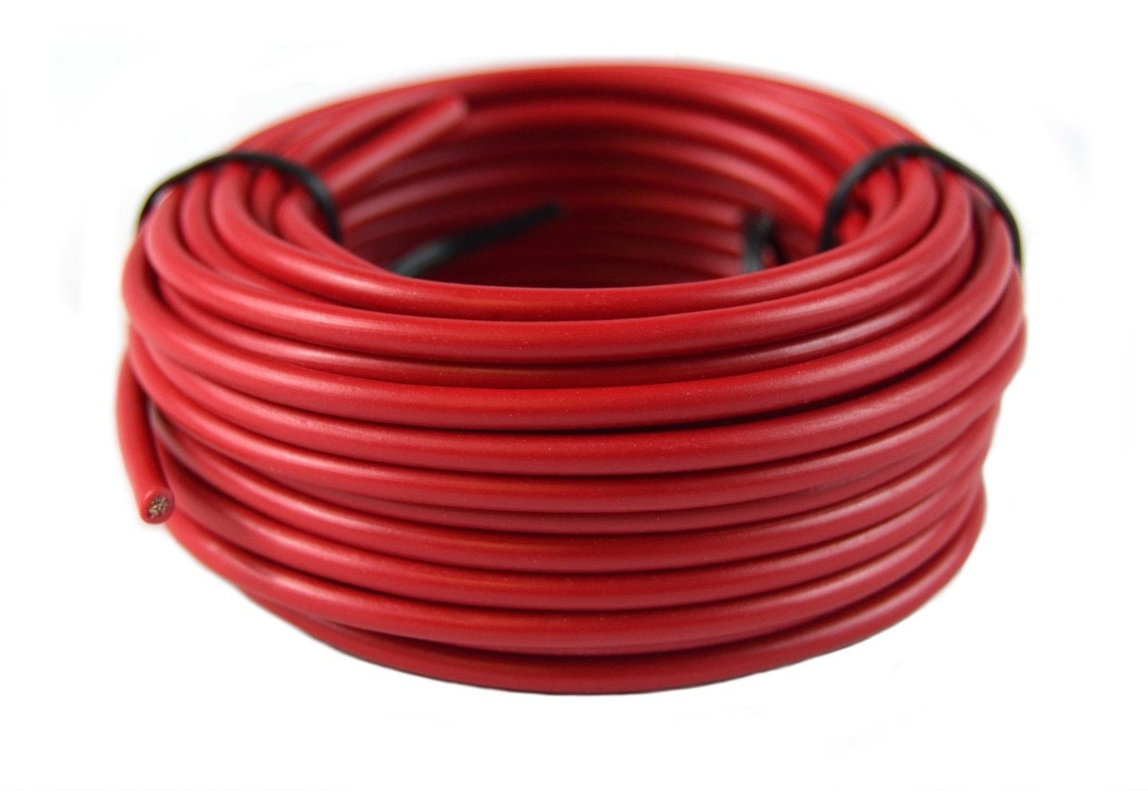 14 Gauge Red /& Black Power Ground Wire 25 FT Each 50 Total Stranded Copper Clad Best Connections