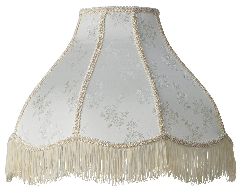 Cream Scallop Dome Lamp Shade 6x17x12x11 (Spider) by Brentwood