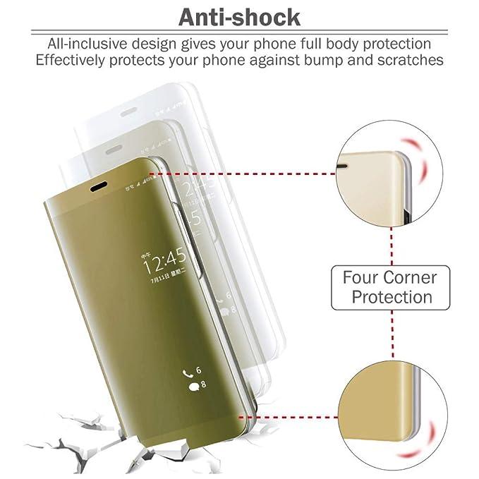 Funda para Xiaomi Redmi Note 7 Protector Cristal Templado Desmontable Ultra-Delgado,360 /°Protection Inteligente Espejo Brillante tir/ón del Caso Duro para Xiaomi Redmi Note 7 Plata