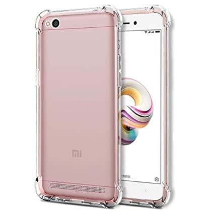 buy online 8be01 a465e Bracevor Flexible Shockproof Back Case Cover for Xiaomi Redmi 5A, Redmi Go  | Cushioned Edges Design (Transparent)