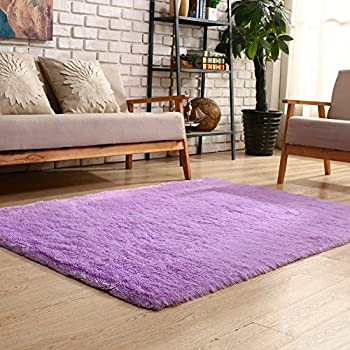 YOH Super Soft Polyester Fiber Area Rugs(3rd Generation) Bedroom Mats Fluffy  Shaggy Rugs