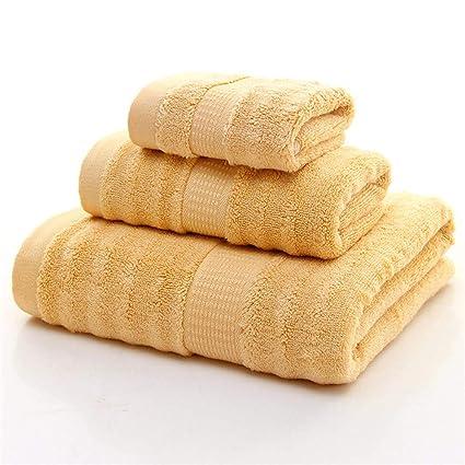 LOF-fei Juego de Toallas Premium de 3 Piezas (1) Toalla de baño