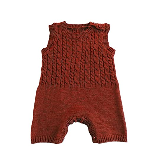 3a7dfc98174e Amazon.com  CC Shop Toddler Warm Sweater Rompers Infant Baby Knit ...