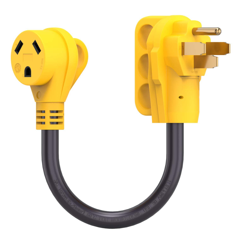 30 Amp Rv Plug >> Amazon Com Kohree 50 Amp To 30 Amp Rv Plug Adapter Heavy Duty