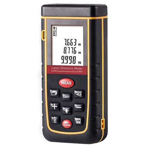 223 opinioni per Misuratore Distanza Laser 80m, Laser Metro con Livella a Bolla, Precisione 2mm,