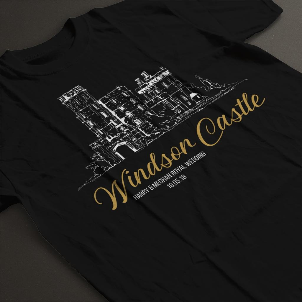 Windsor Castle Harry and Meghan Royal Wedding Kid's T-Shirt by Coto7 (Image #4)