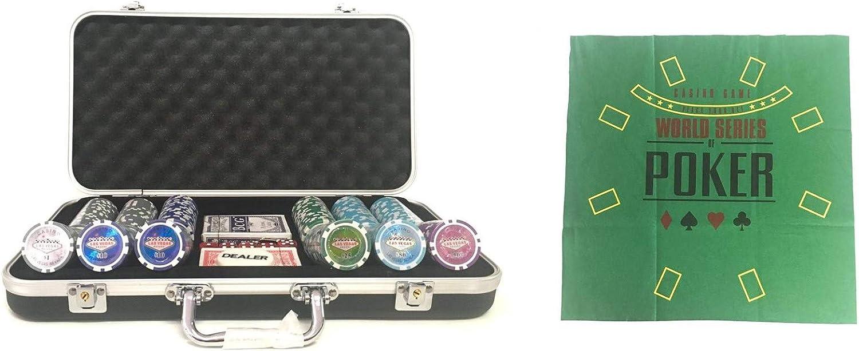 Pokerproductos Maletín 300 fichas Las Vegas con tapete de Regalo: Amazon.es: Juguetes y juegos