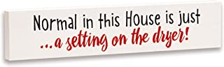 product image for Imagine Design Relatively Funny Normal in This House is Just, Stick Plaque, Red/Black/White
