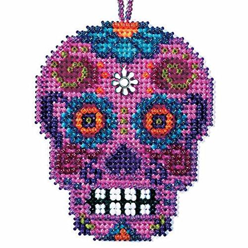 Rosa Beaded Cross Stitch Halloween Kit 2016 Mill Hill Calavera Charmed Ornaments MH161626 ()