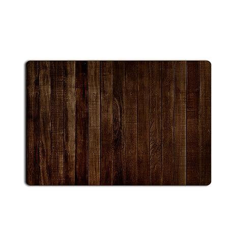 Amazon Com T H Home Rustic Old Barn Wood Dark Brown Door Mats
