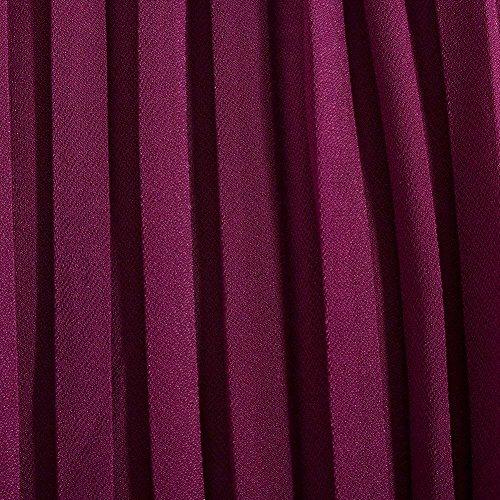 Palazzo Dentelle Taille Mode Tamis Femmes Femme Été Large Temps Avec Elastische Léger Plissée Violett Gratuite En Pantalon De Confortable BqpZ0fpW