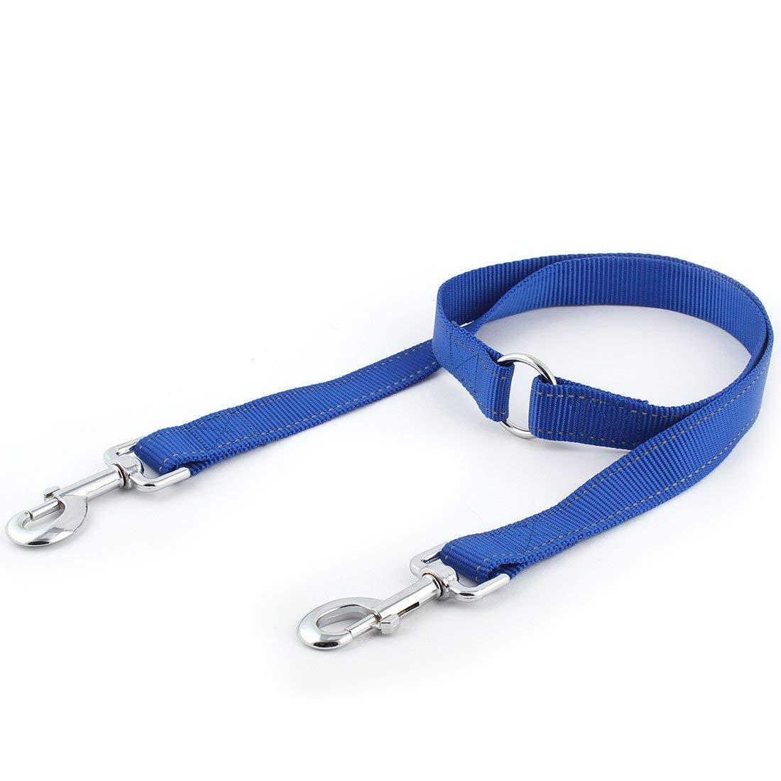 Nylon Walking Flat Dot Pattern Decor Adjustable Pet Lead Collar Dog Leashes Red