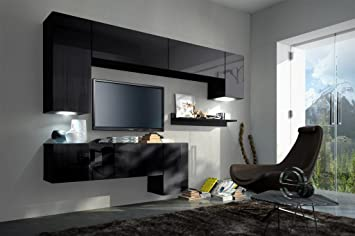 HomeDirectLTD Future 5 Moderne Wohnwand, Exklusive Mediamöbel, TV Schrank,  Neue Garnitur,