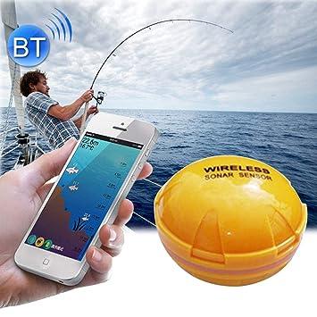 WARM home Al Aire Libre Detector de Peces Bluetooth 125 KHz Sonar Sensor 0.6-36m Profundidad Localizador Detector de Peces Alarma para teléfonos móviles ...
