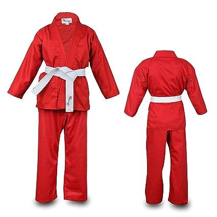 Norman Rojo Infantil Traje de Karate Cinturón Blanco Gratis ...